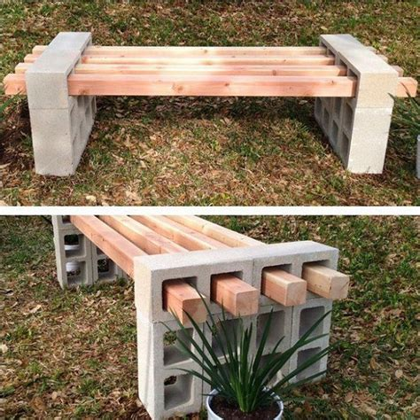 easy outdoor bench simple diy bench idea home design garden architecture
