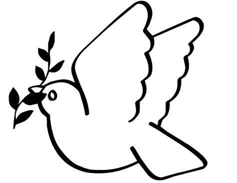 Peace Dove Coloring Page Dove Of Peace Coloring Page Art Pinterest