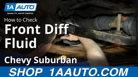 check  front differential gear oil fluid