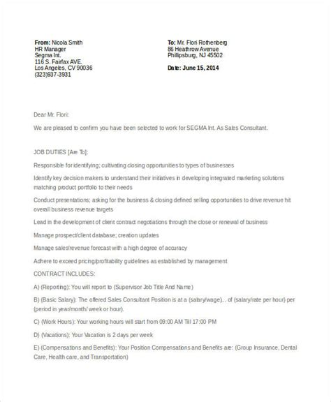 appointment letter format for consultant 7 consultant offer letter templates pdf doc free