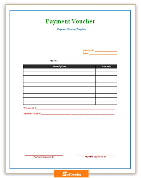 Credit Voucher Format Word Soft Templates Part 4