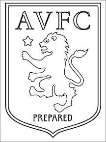 coloring page of aston villa f c logo coloring pages