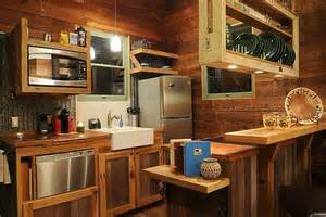 tiny house kitchen ideas reclaimed wood tiny house interior note sliding cutting