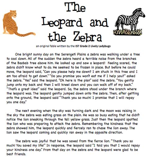 writing a fable template fables and tales ist grade 2 welcome page 3