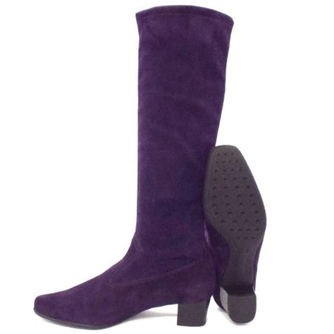 kaiser aila boots in purple suede leather