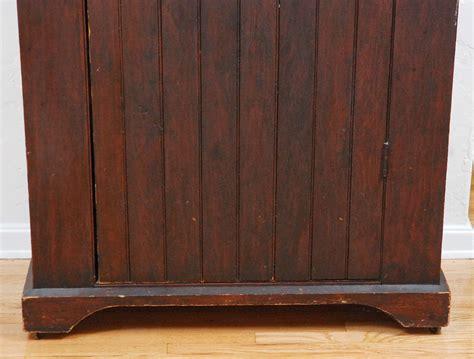 beadboard chiffonier fantastic 19thc beadboard wall cupboard in original paint