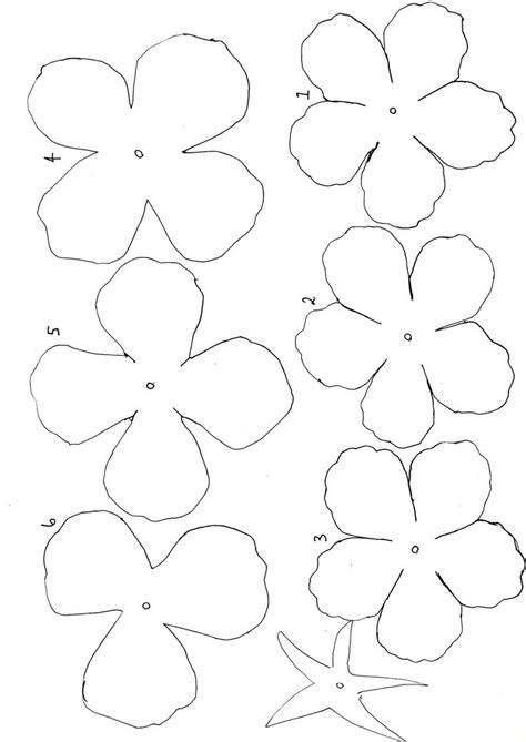 Flower Paper Craft Template - best 25 flower template ideas on