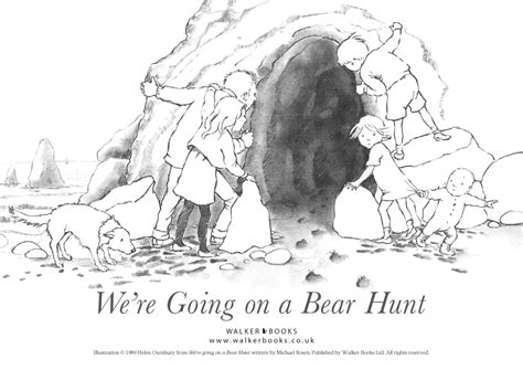 Coloring Pages For Going On A Bear Hunt | we re going on a bear hunt colouring sheet scholastic