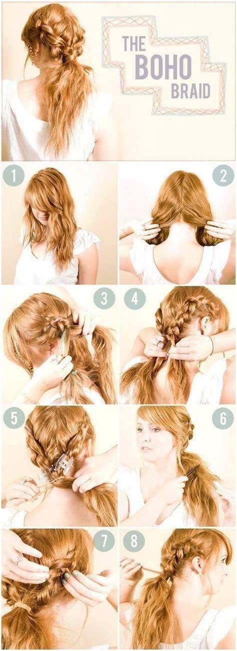 diy hairstyles braided look diy boho braid hairstyle hair pinterest