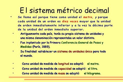 sistema internacional de medidas sistema metrico decimal sistema m 233 trico decimal 5 186 primaria