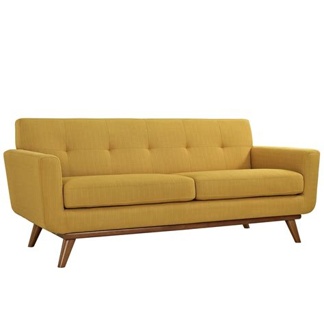 wooden loveseat mid century modern engage contemporary loveseat with