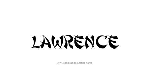 lawrence name tattoo designs