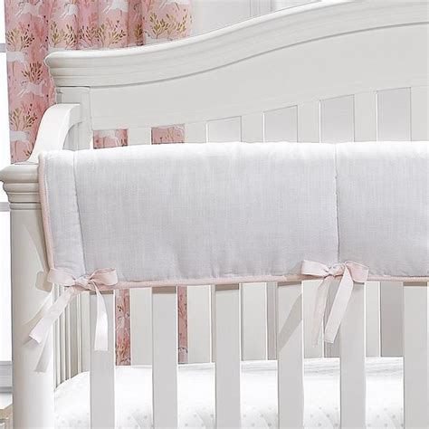 White Crib Rail Cover by White Crib Rail Cover White Nursery Bedding For