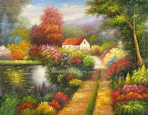 A Frame Style Homes enchanted garden painting id la 5505 ka all sizes