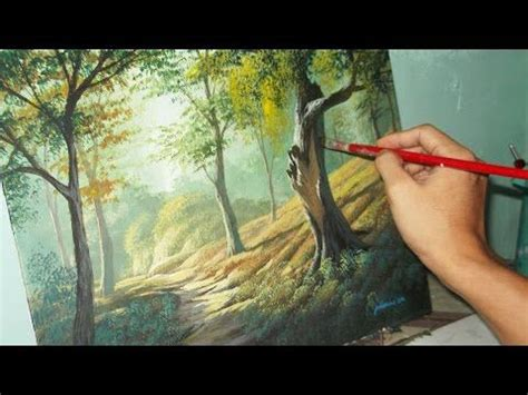the of acrylic painting expressive painting techniques for beginners books acrylic landscape painting lesson forest trees by