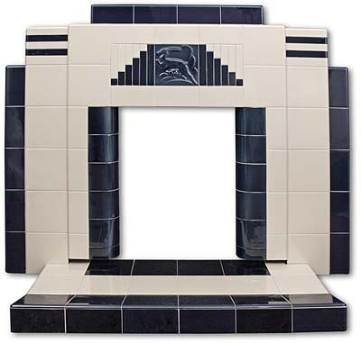 Deco Fireplace Tiles by Gazelle All Tiled Deco Fireplace Twentieth Century