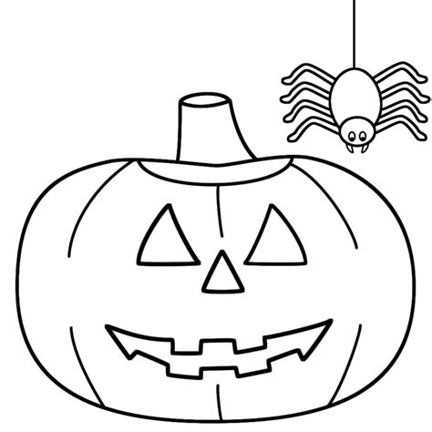 Easy Coloring Pages For Halloween | printable coloring pages for toddlers
