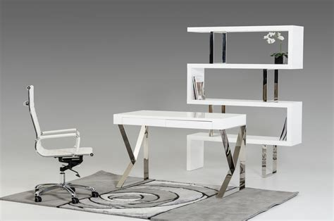 white desk modern ferris modern white lacquer office desk