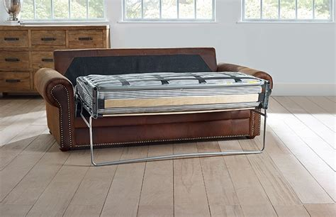 sofa bed hamilton hamilton studded leather sofa bed
