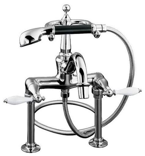Kohler Clawfoot Tub Faucets kohler finial faucet clawfoot tub and shower filler traditional bathroom faucets and