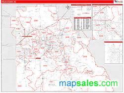 polk county fl zip code wall map line style by marketmaps