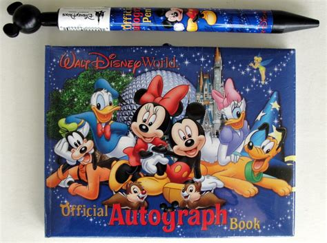 disney world picture book walt disney world autograph book pen mickey mouse