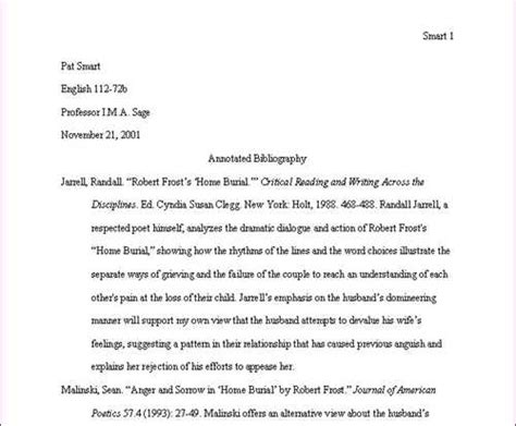 apa format journal entry exle sample annotated bibliography entry for a journal article