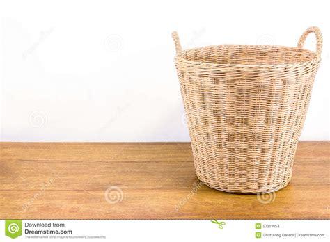 woven cane floor l rattan basket on wood floor stock photo image 57319854