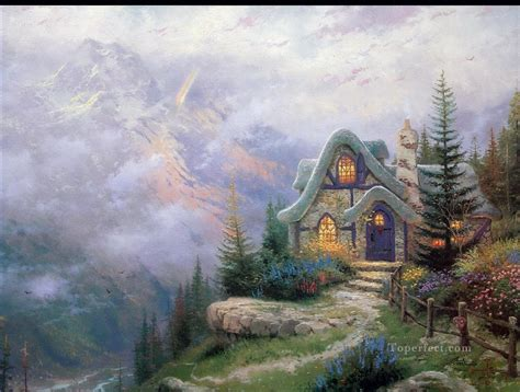 cottage paintings by kinkade sweetheart cottage iii kinkade mountains landscapes