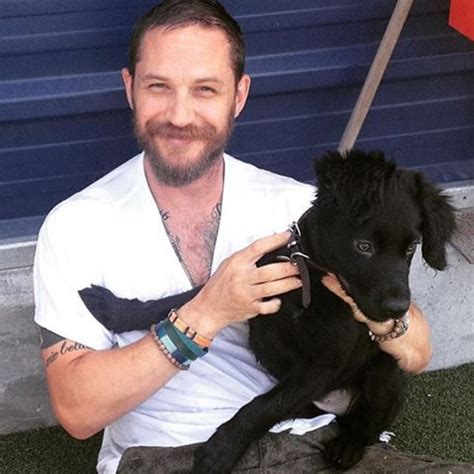 tom hardy puppy quot tom hardy holding dogs quot instagram account makes the a lovely place barkpost
