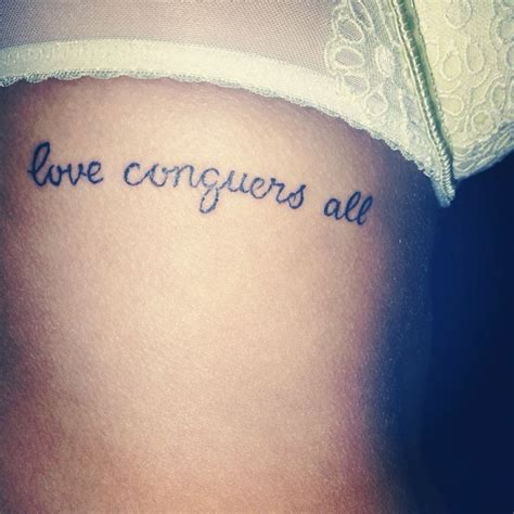 love conquers all tattoo designs conquers all just a ink