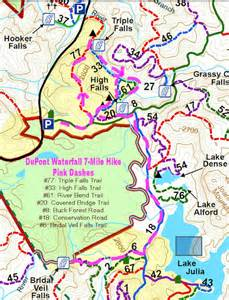 Dupont State Forest Map by Dupont State Forest Waterfall Hike