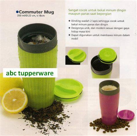 Tupperware Hijau jual tupperware commuter mug hijau abc tupperware
