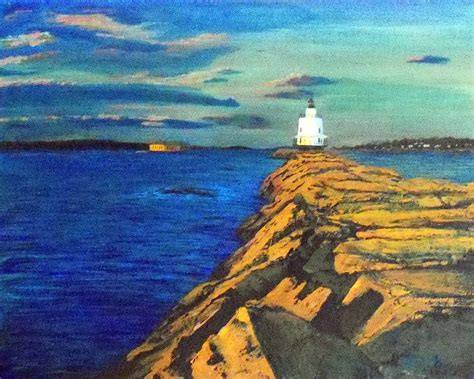 boat canvas portland maine portland maine harbor painting by william tremble