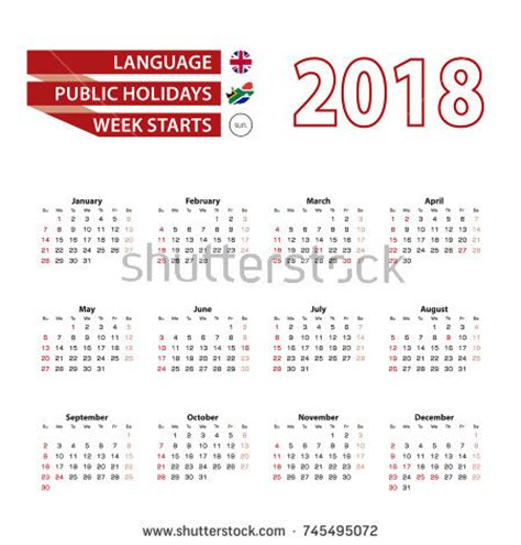 Romania Calendrier 2018 Calendar 2018 Language Holidays Stock