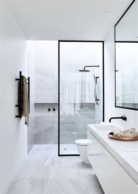 bathroom design idea black shower frames contemporist