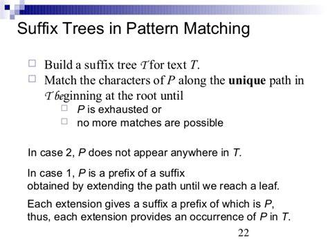 tree pattern matching algorithm lec18
