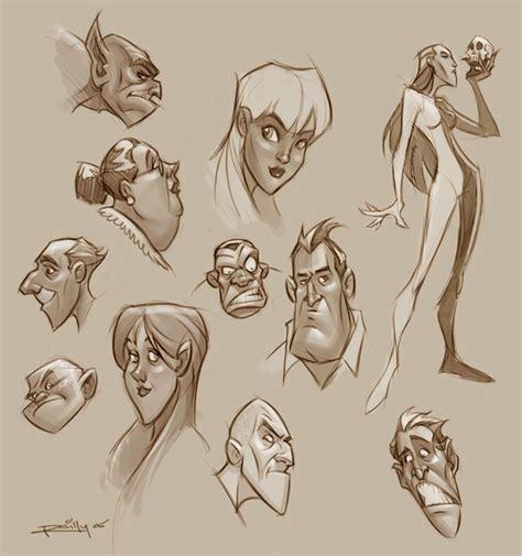 9 Character Sketches by Character Sketches By Preilly On Deviantart