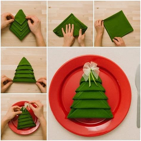 christmas tree napkin table setting pictures photos and