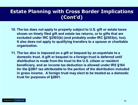 irc section 2503 estate planning with cross border implications