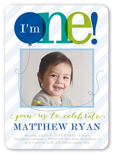 baby boy 1st birthday invitation cards sheer one boy 5x7 boy birthday invitation shutterfly