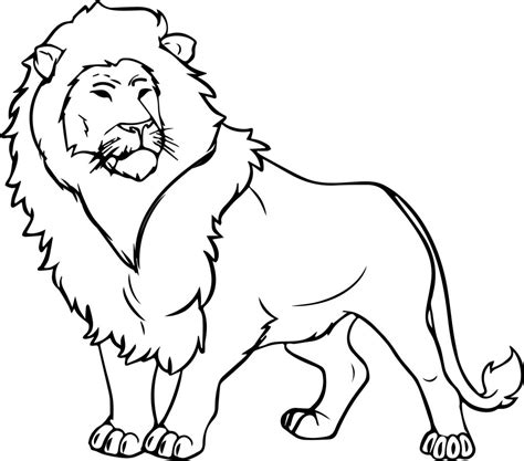 coloring pages for lion coloring pages lion 4163