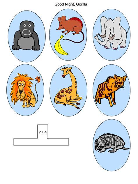 printable zoo animal finger puppets finger puppets craft good night gorilla book animal