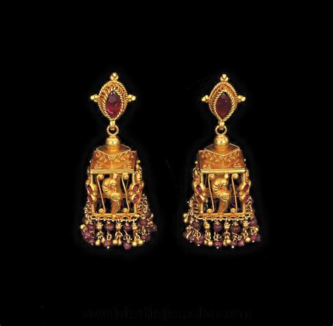 jhumka design images latest antique jhumka designs south india jewels