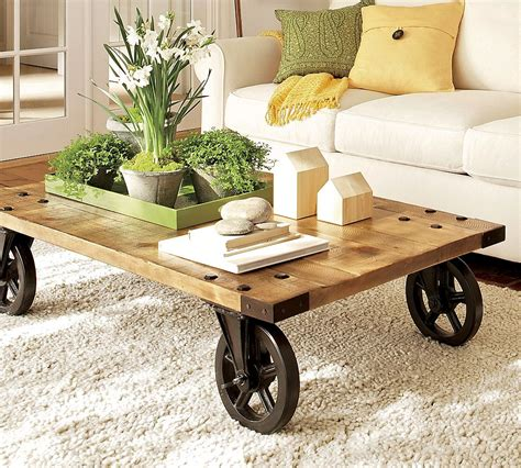 Rustic Coffee Tables With Wheels Rustic Coffee Table On Wheels