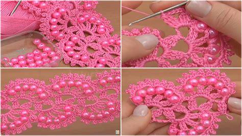 crochet pattern drawing crochet beaded tape tutorial lace pattern ilove crochet