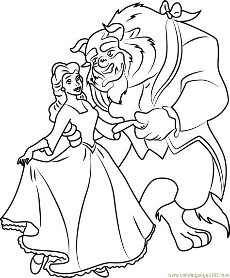 beauty and the beast dancing coloring pages beauty and the beast dancing coloring page free beauty