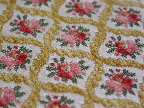 vintage velvet upholstery fabric vintage cut velvet chenille brocade by nieszvintagefabric