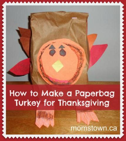 How To Make A Paper Bag Turkey - how to make a turkey from a paper bag