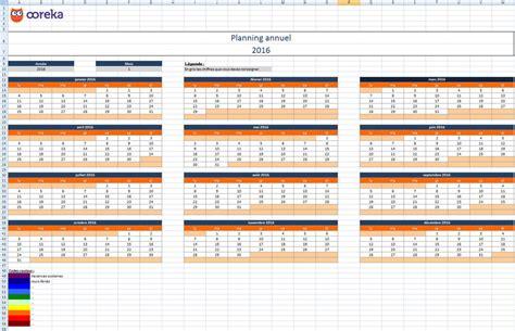 feuille de calcul planning annuel excel